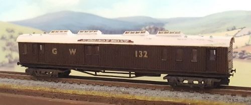 OCWW  ALN022 N Scale KIt Bogie Combined Mess and Tool Van #132